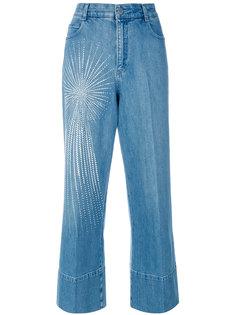 широкие джинсы с рисунком Stella McCartney