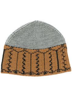 узорчатая вязаная шапка Lanvin
