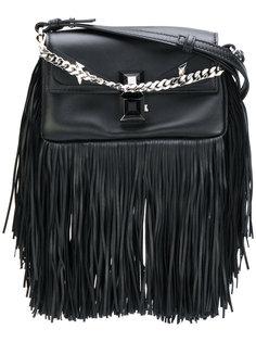 маленькая сумка через плечо с бахромой Fendi