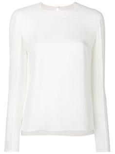 блузка с полупрозрачной вставкой  Tom Ford
