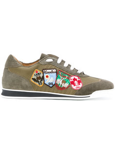 кроссовки с нашивками Dsquared2