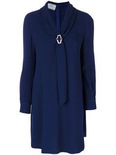 платье шифт с брошью  Prada