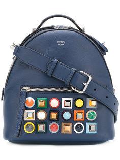 мини-рюкзак с разноцветными заклепками Fendi