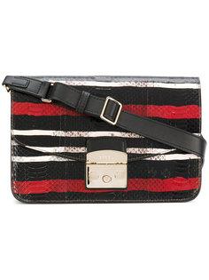 сумка через плечо с откидным верхом в полоску Furla