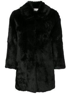 пальто с декором из брошей Red Valentino