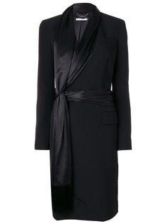 пальто с асимметричной оторочкой шарфом Givenchy