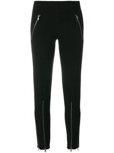 брюки с молниями Moschino