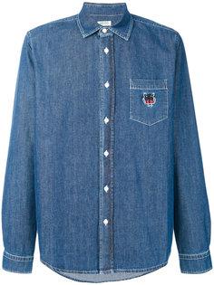 джинсовая рубашка с вышитым тигром Kenzo