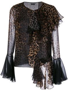 блузка с леопардовым рисунком Tom Ford