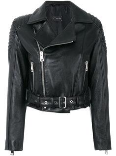 укороченная байкерская куртка Manokhi