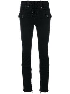 узкие джинсы на шнуровке Unravel Project