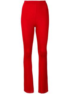 расклешенные брюки с ребристой фактурой Givenchy