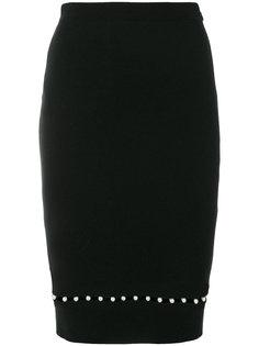 юбка с отделкой искусственным жемчугом Givenchy