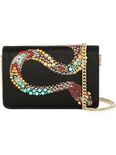 сумка с украшением в виде змеи Roberto Cavalli