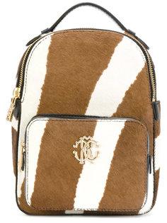 маленький рюкзак с принтом под зебру Roberto Cavalli