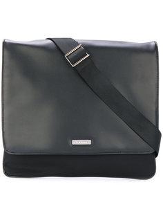 сумка-мессенджер с фирменной бляшкой Baldinini