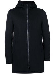 удлиненная куртка с капюшоном Herno