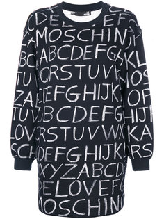 платье-свитер с алфавитным принтом  Love Moschino