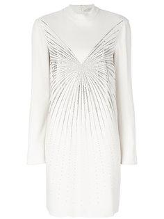 короткое платье с высоким воротником с заклепками Stella McCartney