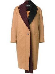 пальто с контрастным воротником Cédric Charlier