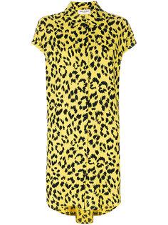 платье-шифт с гепардовым узором Saint Laurent