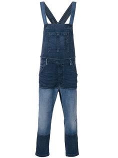 джинсовый комбинезон в стиле пэчворк Diesel