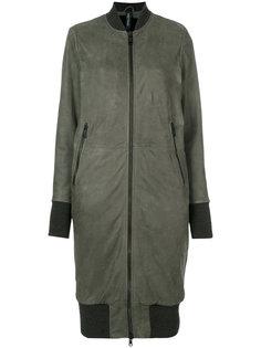длинная куртка-бомбер  Giorgio Brato