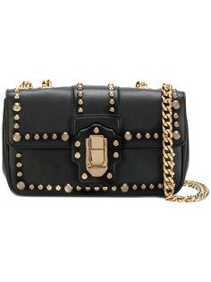 сумка на плечо с золотистыми заклепками  Dolce & Gabbana