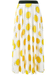 юбка с принтом солнца  Christopher Kane