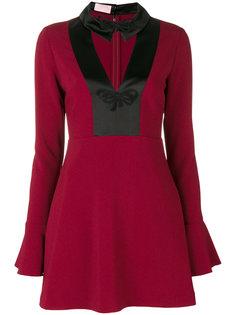 короткое платье с заостренным воротником Giamba