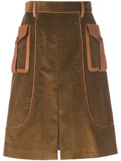 юбка из вельвета Prada