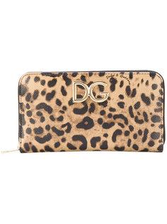 кошелек на молнии с леопардовым принтом Dolce & Gabbana