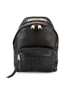 мини-рюкзак с бляшкой с логотипом Moschino