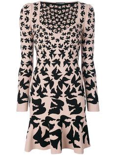 платье с птицами Alexander McQueen