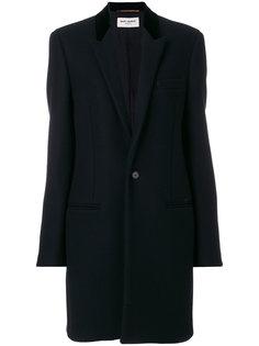 пальто дизайна классического пиджака Saint Laurent