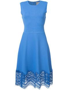 платье с ажурными вставками Lela Rose