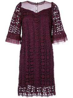 кружевное платье с рукавами с оборками Aula