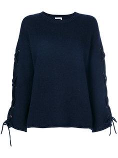 свитер со шнуровкой на рукавах See By Chloé