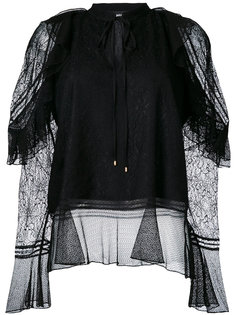 блузка с кружевным слоем  Just Cavalli