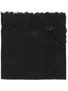 платок с кружевной отделкой Ermanno Scervino