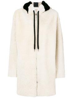 пальто из меха с капюшоном Inès & Maréchal