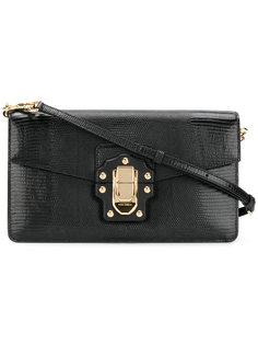 сумка на плечо с эффектом крокодиловой кожи Dolce & Gabbana