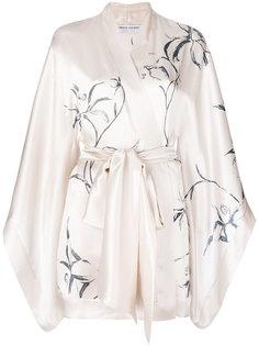 короткий халат-кимоно с рисунком Carine Gilson
