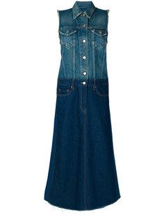 джинсовое платье без рукавов Mm6 Maison Margiela