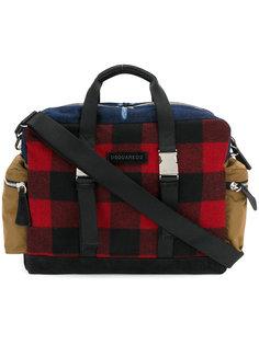 сумка в шотландскую клетку Dsquared2