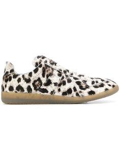 кроссовки-слипоны с леопардовым принтом Maison Margiela