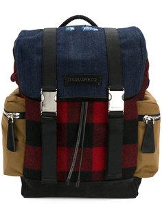 рюкзак в стиле милитари с застежками-пряжками Dsquared2