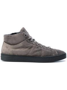 замшевые кроссовки Santoni