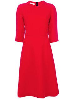 расклешенное платье-шифт Marni