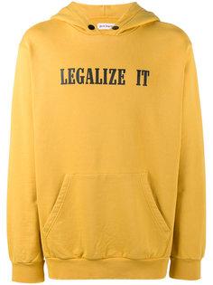 толстовка с капюшоном и принтом legalize it Palm Angels